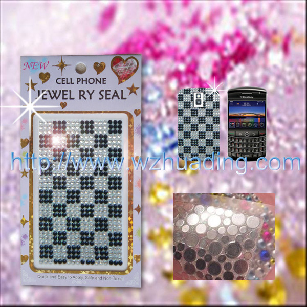 Decorative Rhinestone Stickers : Crystal rhinestone decorative stickers wd mcs china