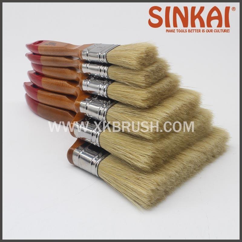 Natural Bristle Flat Brush Bangladesh Paint Brush