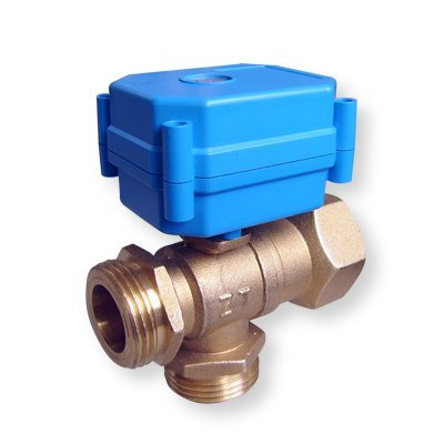 China Motor Operated Valve 3 4 3 Way Brass Valve L T Type China Motorized Valve Electric Valve