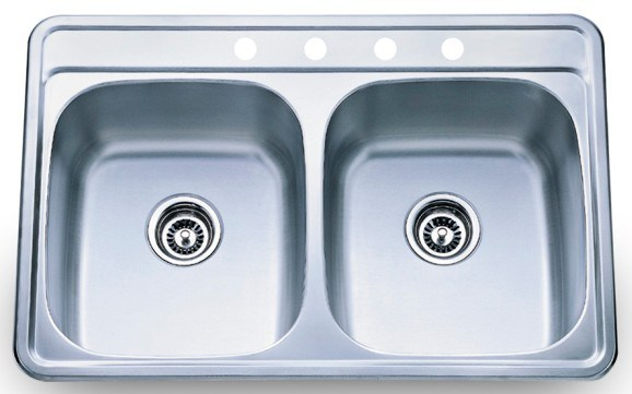Top Stainless Steel Sinks : Top Mount Stainless Steel Sink (910) - China Top Mount Sink, Stainless ...