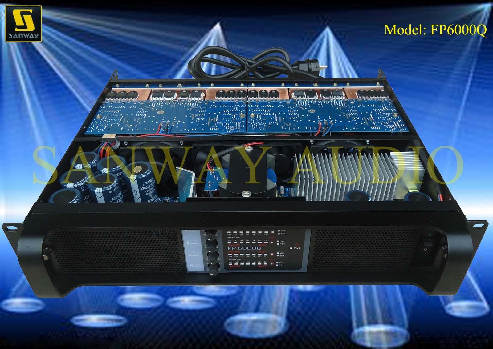 DJ Mixer Sound Equipment, Switch Audio Amplifier (FP6000Q)