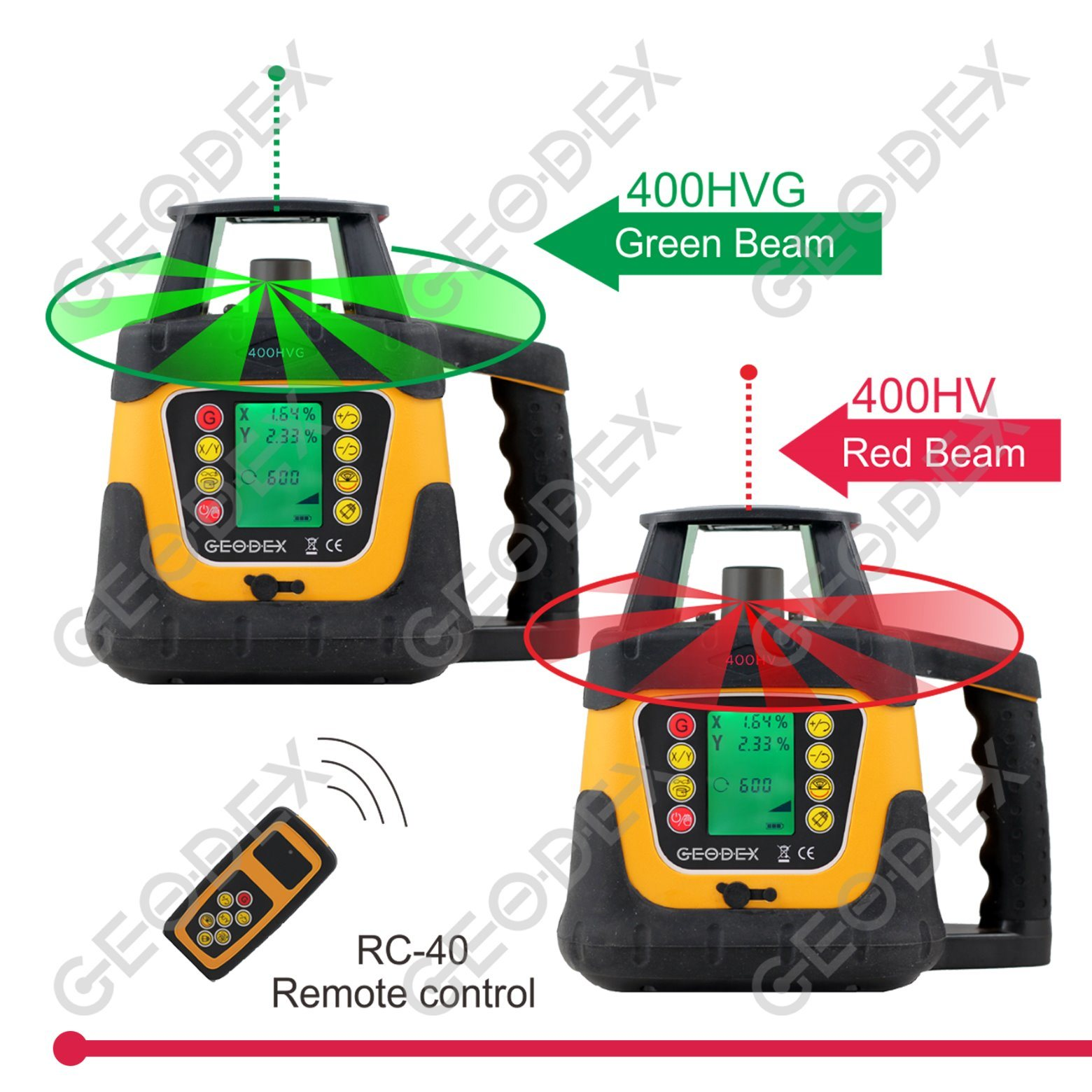 Automatic Self-Levelling Rotating Laser Level with LCD Display (400HV / 400HVG)