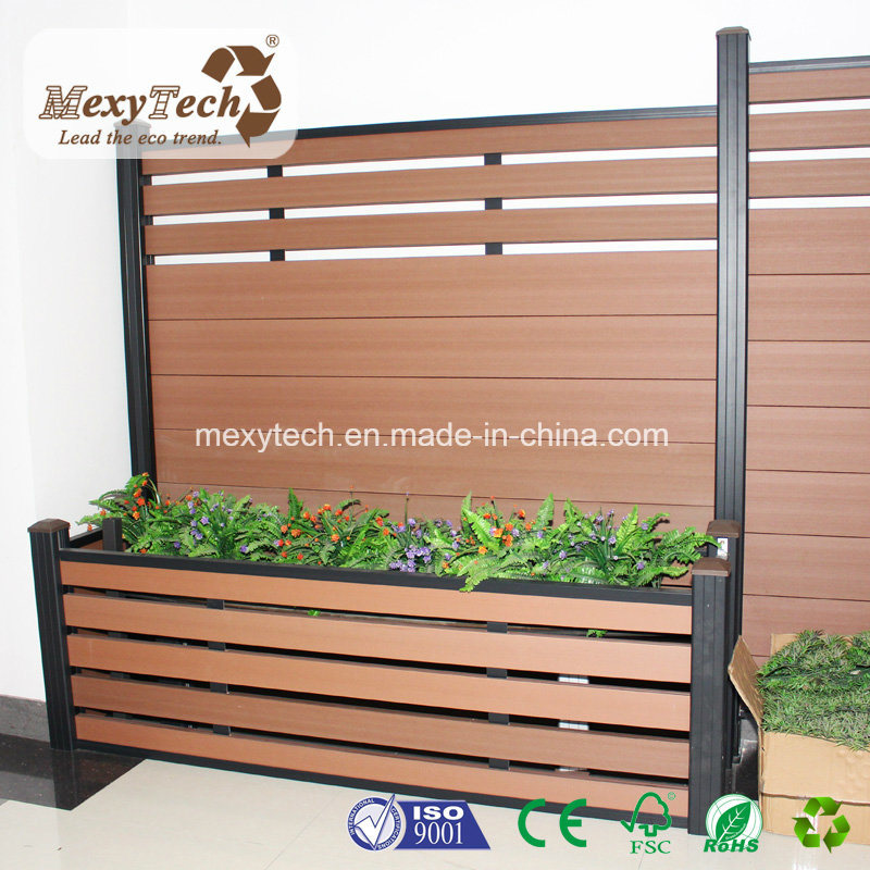 New Material Wood Composite Fencing DIY Exterior Garden WPC Fence