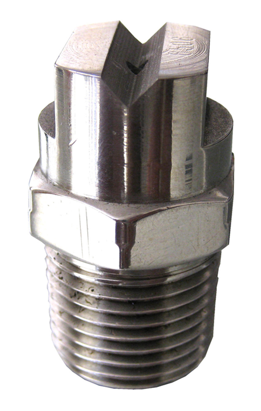 1/4 BSPT or NPT Flatjet Stainless Steel Spray Nozzle