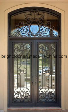 Wrought Iron Glass Interior Grill Door Designs