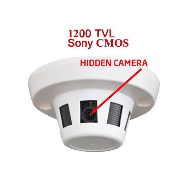 0.01lux CMOS 1200tvl Smoke Detection Hidden CCTV Camera (SX-2035AD-12)