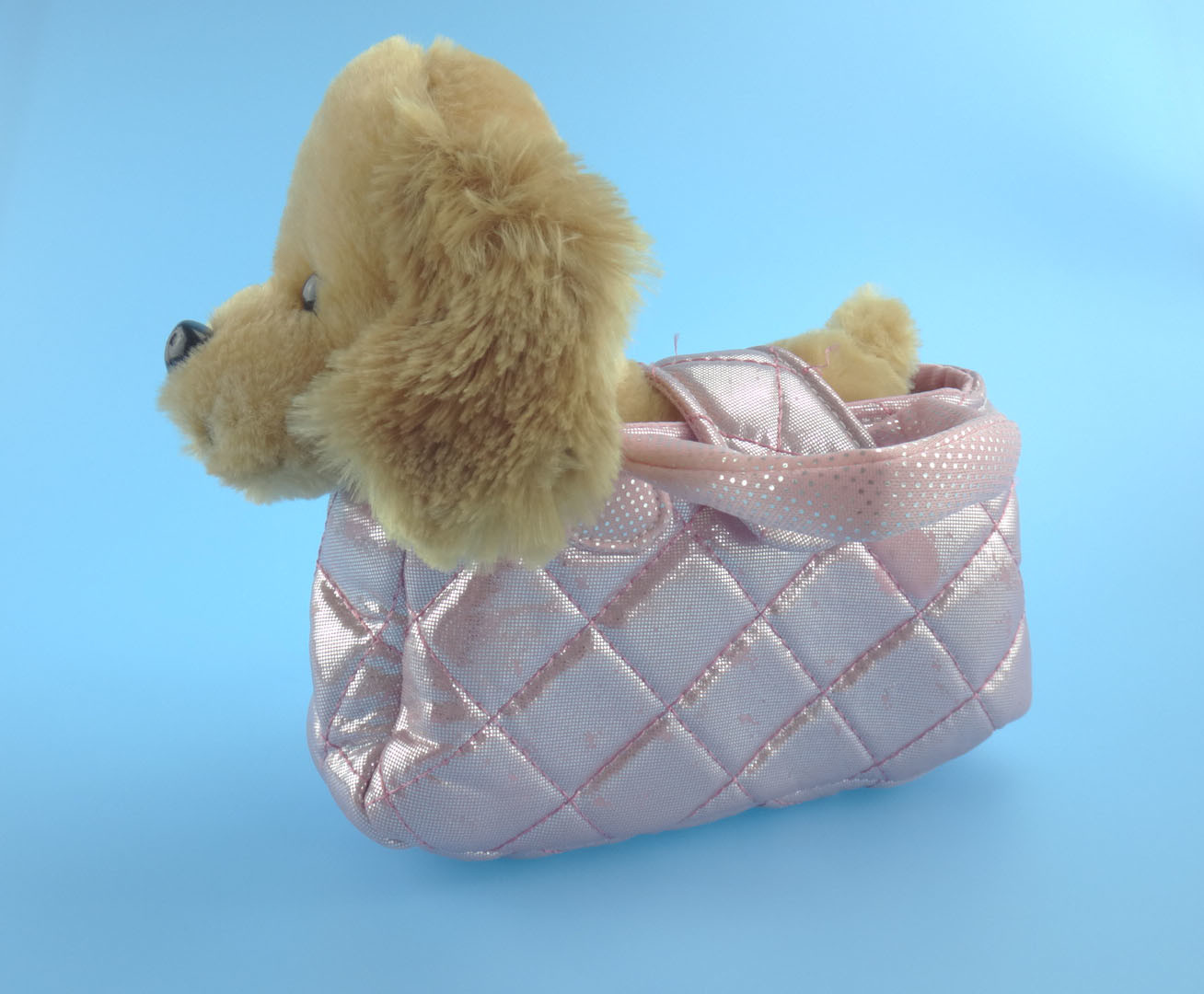 Cute Plush Dog with Portable Dog Bag Plush Toy