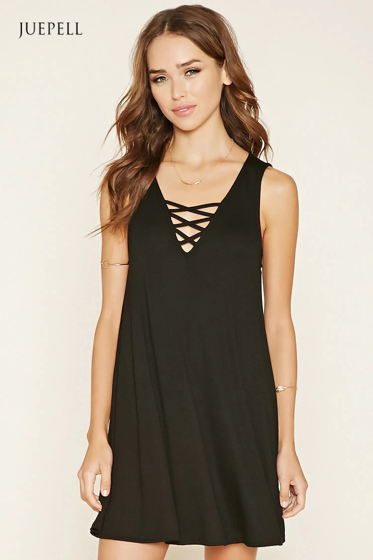 Fashion Crisscross A-Line Mini Dress