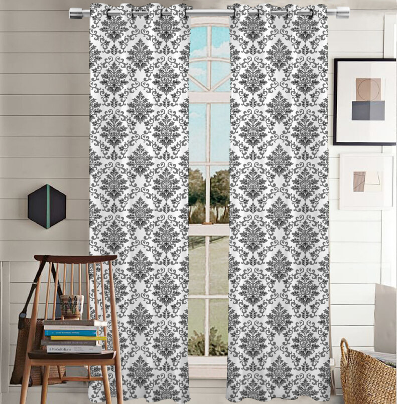 Printed Curtain Canvas Grommet Panel