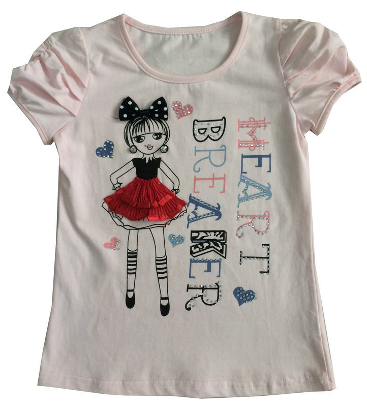 Fashion Colorful Kids Girl Apparel with Rhinestone in Children′s Clothes Sgt-068