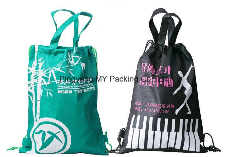 Cheap Custom Advertisement Rope Drawstring Backpack