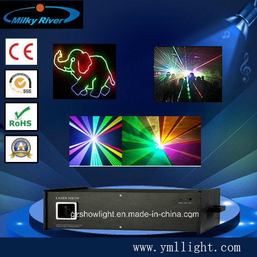 3W RGB Full Color Animation Ilda Laser Light