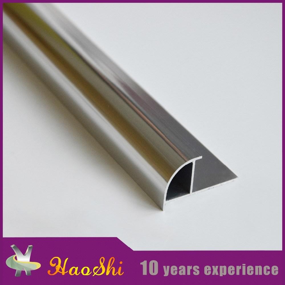 Round Closed Type Aluminum Ceramic Tile Trim (HSRC-240)