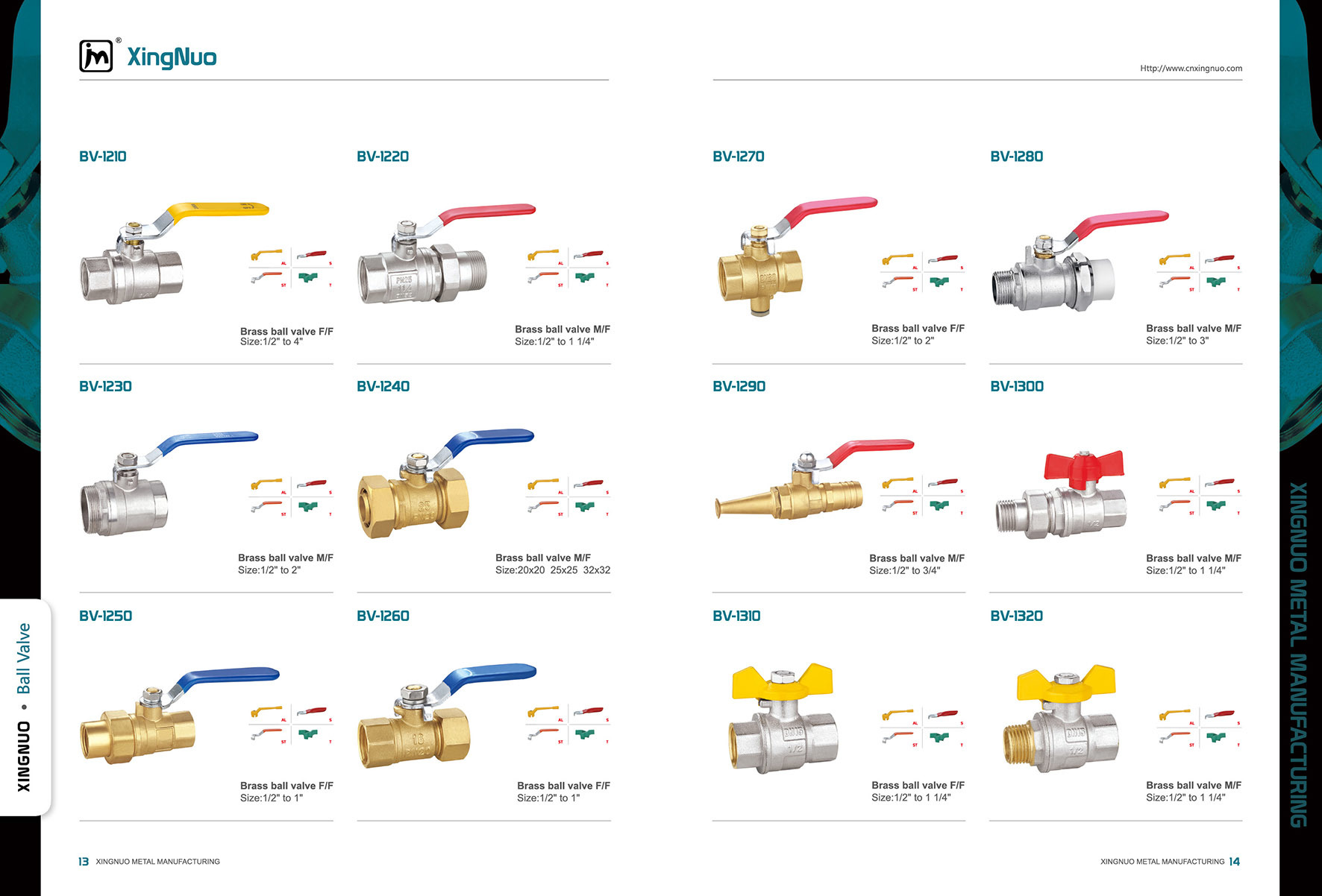 Brass Ball Valve with Aluminum Handle BV-1320 F/F