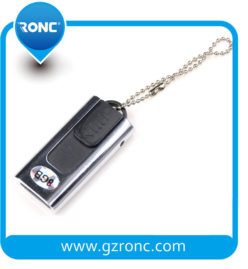 Wholesale Mini Size 8GB USB Flash Disk with Metal Body