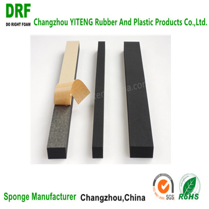 Neoprene Foam with Highly Elastic Washer, Flame Backup Ring, One-Side Adhesive Sponge
