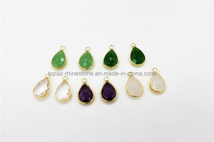 Jewelry Diamante Crystal Pendant for Necklace Making (TN-Tear drop 10*14)
