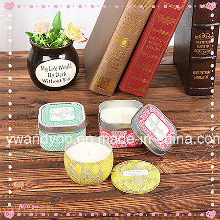 Handmade Scented Soy Tin Candle with Metal Lid for Travel
