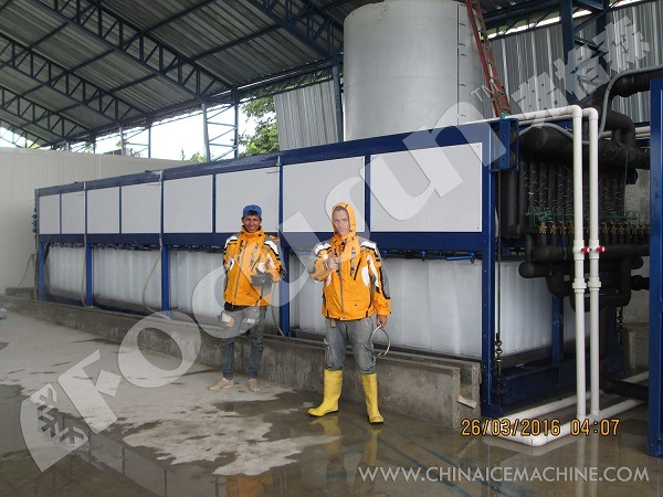 25 Tons Per Day Direct Freezing Block Ice Making Machine