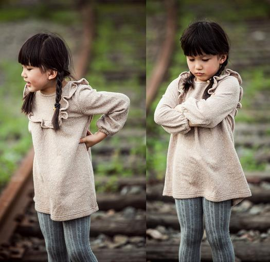 2015 Early Autumn Fashion Design Healthy Fabric Kids Clothing for Girls