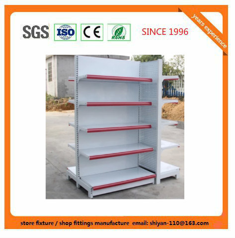 Metal Supermarket Shelf Store Retail Fixture for Angola Market Exhibition Shelf 08153