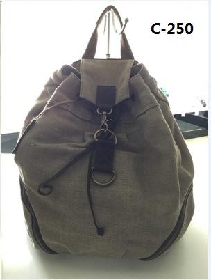 Guangzhou Suppliers Designer Sailcloth Canvas Backpack Bag (C-250)