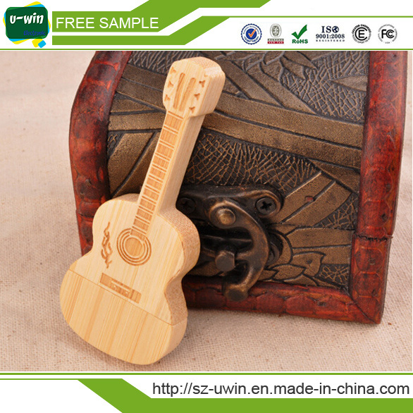 Wooden Guitar USB Flash Drive USB Drive Pen Drive for Promation