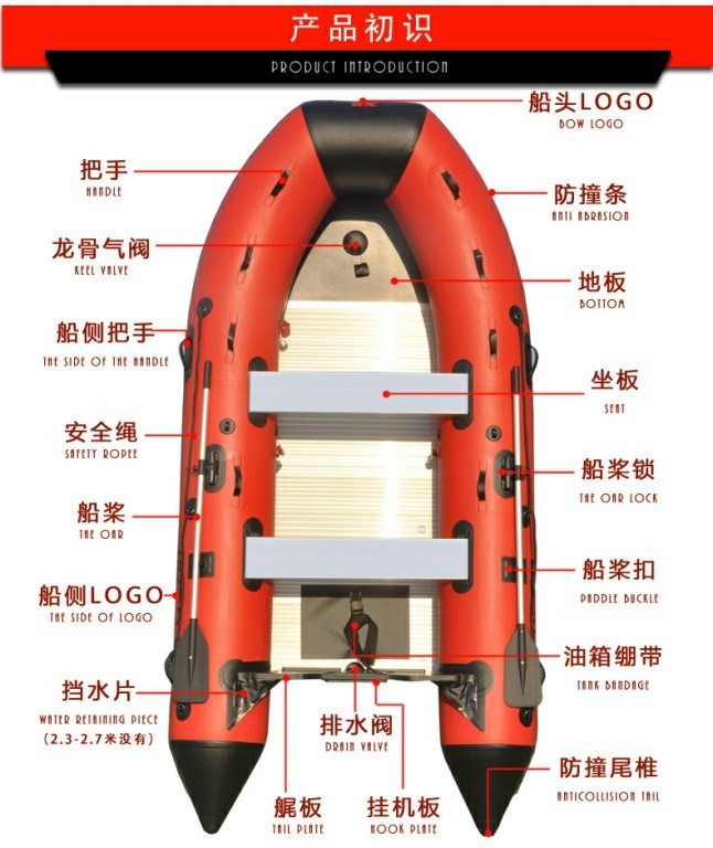 Inflotable Boat 1-14 Persons Alminum Alloy Floor