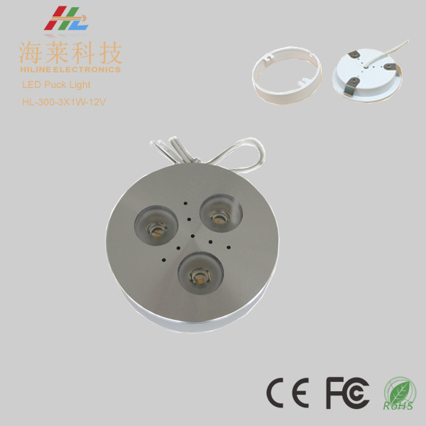 3W 12VDC Edison Dimmable LED Cabinet Puck Light