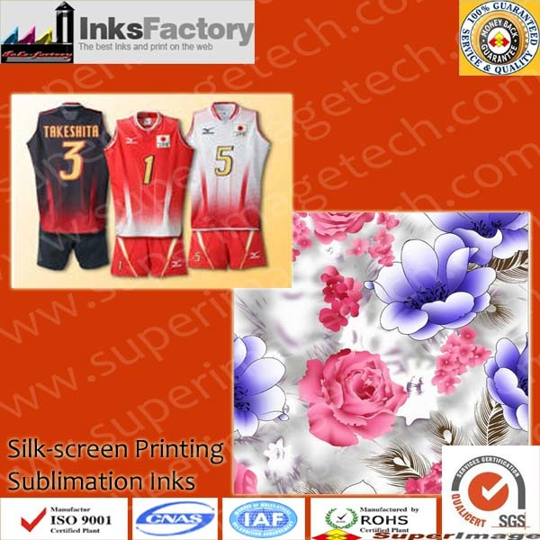 Offset Sublimation Ink for Fabric, T-Shirts, etc Printing.