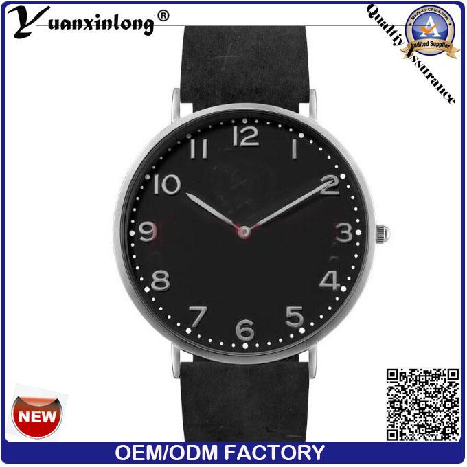 Yxl-744 Factory Quartz Watches Men Custom Leather Watches for Men
