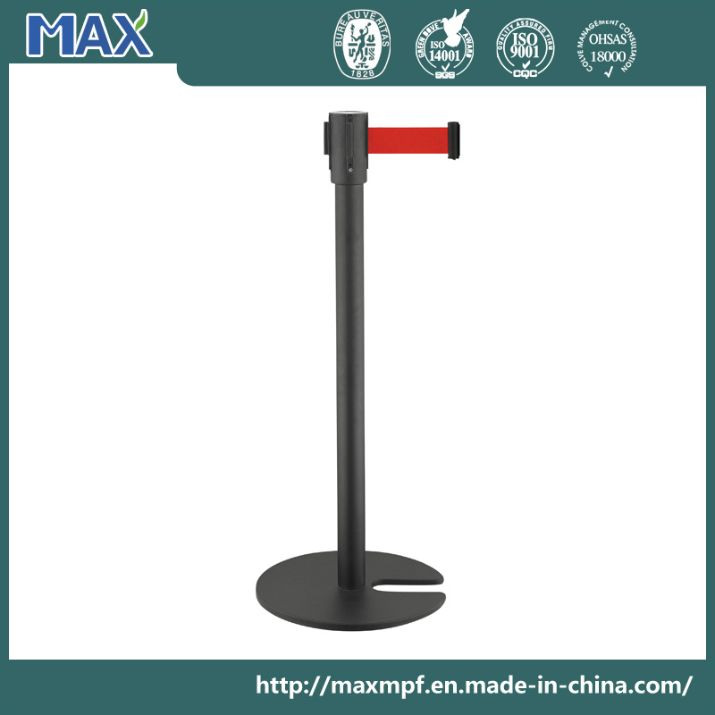 U Shape Stackable Queue Pole with Heavy Iron Casting Base