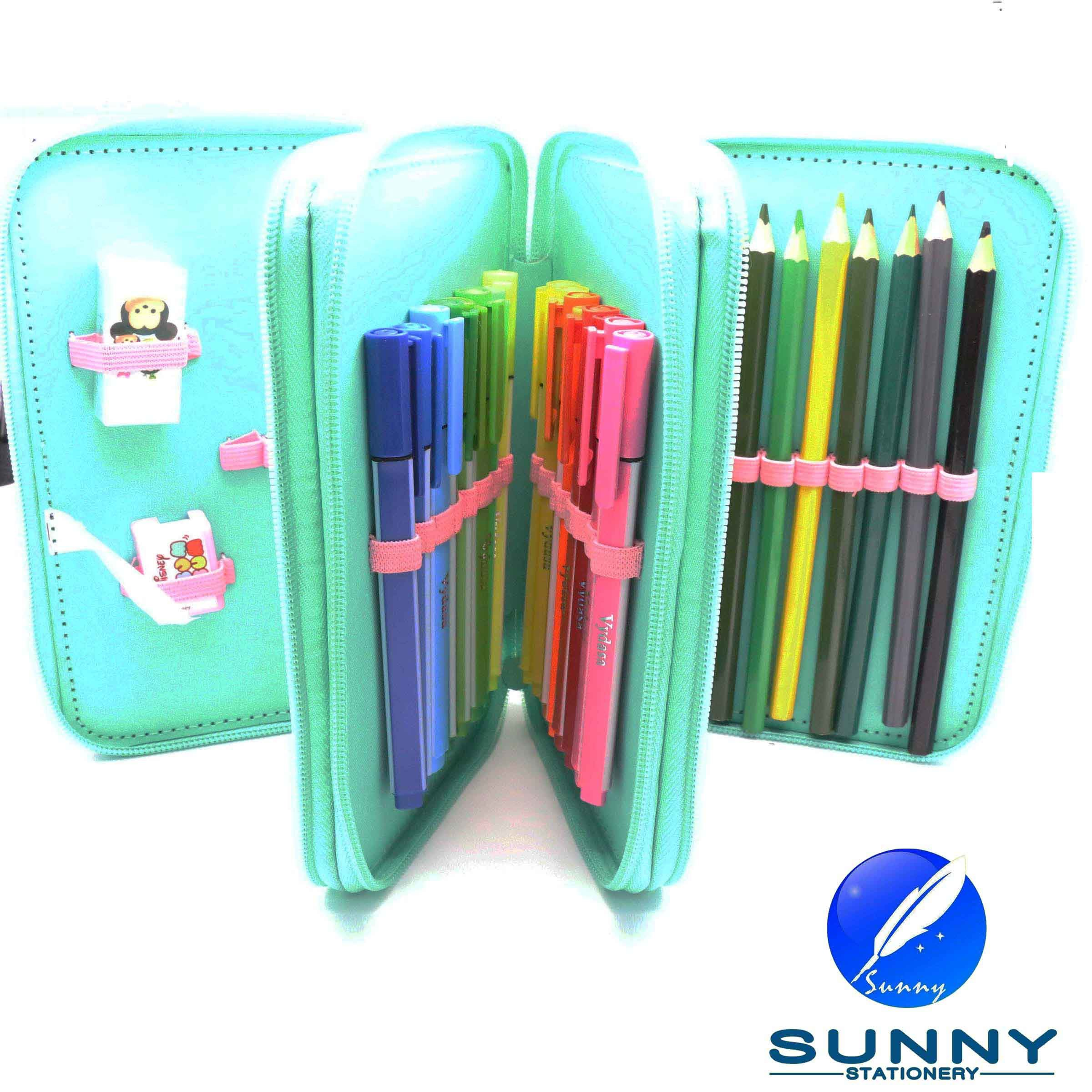 2015 Hot Sale Zip Pencil Case Stationery Set, Third Tier Pencil Case, School Bag Stationery Set