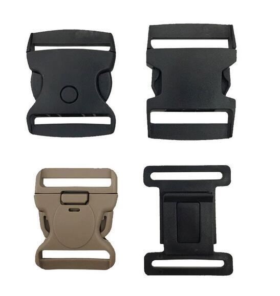 Custom Black Plastic Release Buckles