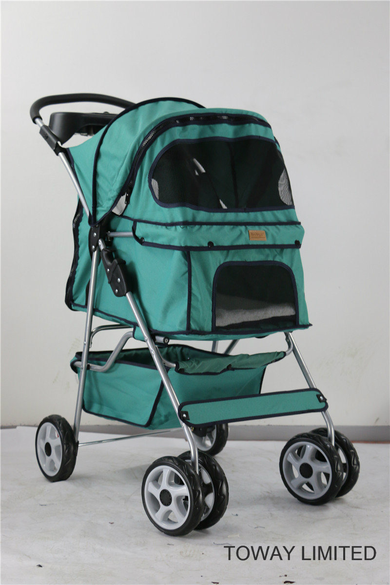 Large Dog Stroller 4 Wheels Outdoor Carrier Pet Strollers