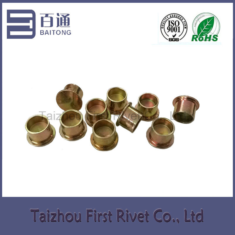 9.4X10mm Zinc Plated Flat Head Semi Tubular Steel Clutch Rivet