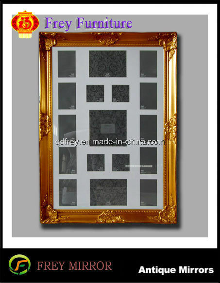 Antique Design Wooden Wall Mirror/Picture Frame