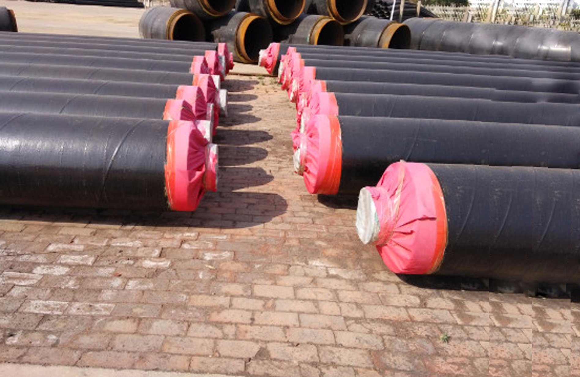Chilled Water Insulation with Polyurethane Foam Insulating of Pre Insulated Pipe
