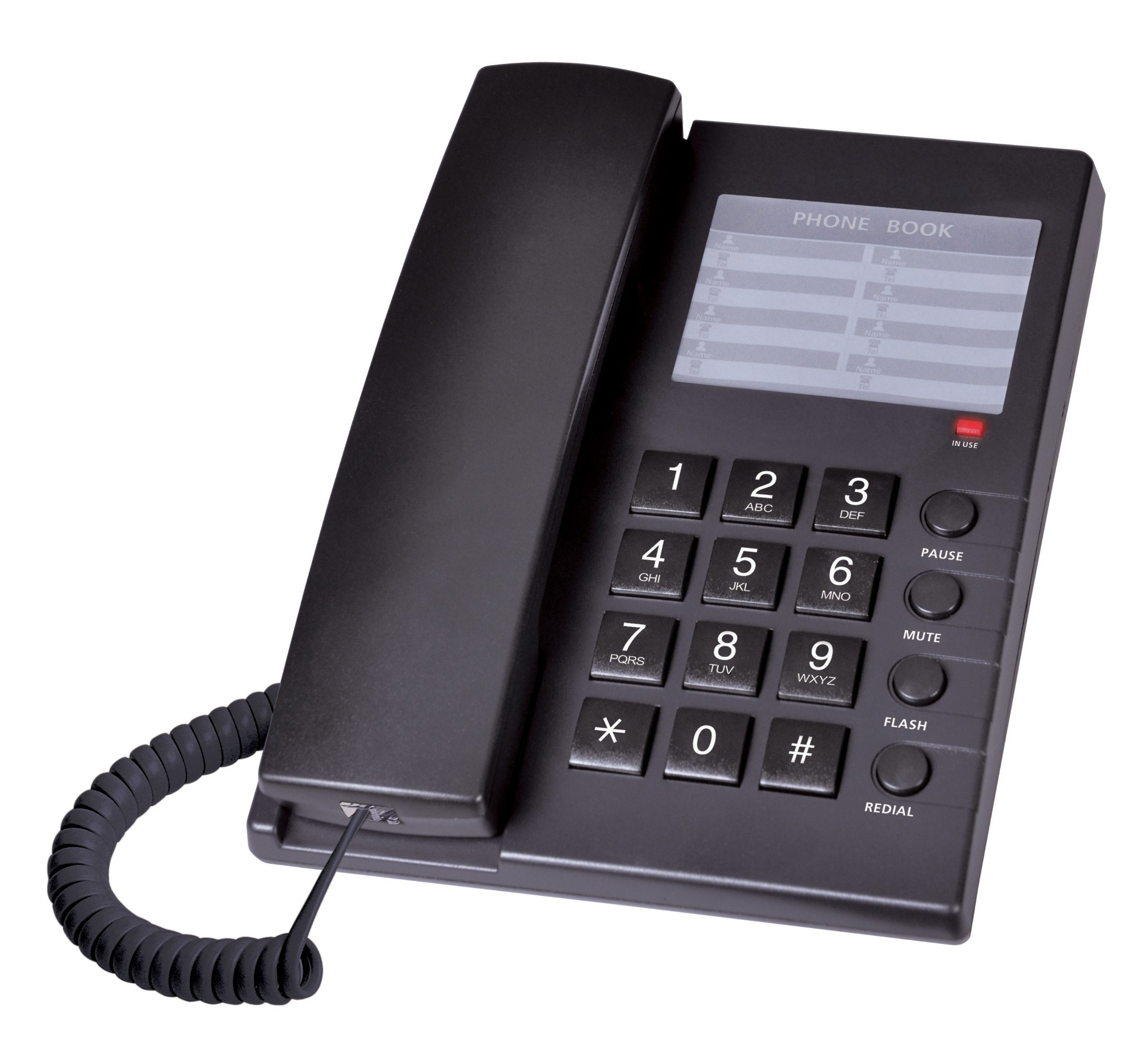 Corded Telephone, Desktop Phone, Office Phone, Hotel Telephone, Landline Telephone