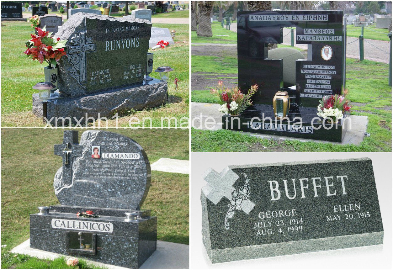 European Customized Carving Granite Cross Tombstone/Monument/Headstone
