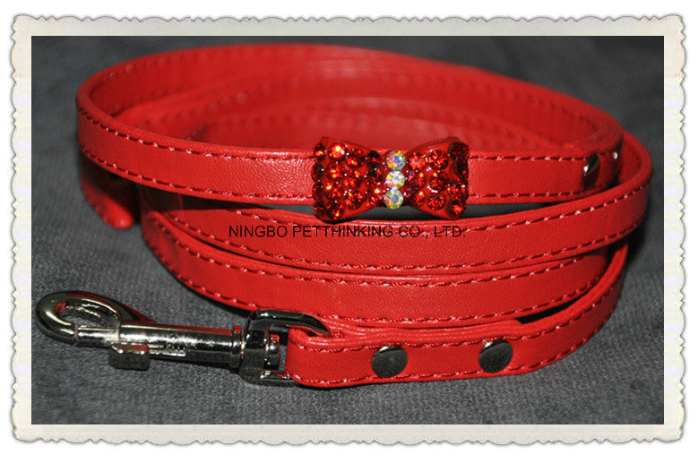 Crystal/ Rhinestone Bow Dog Collar, Diamond Bling Pet Collar, Pet Products