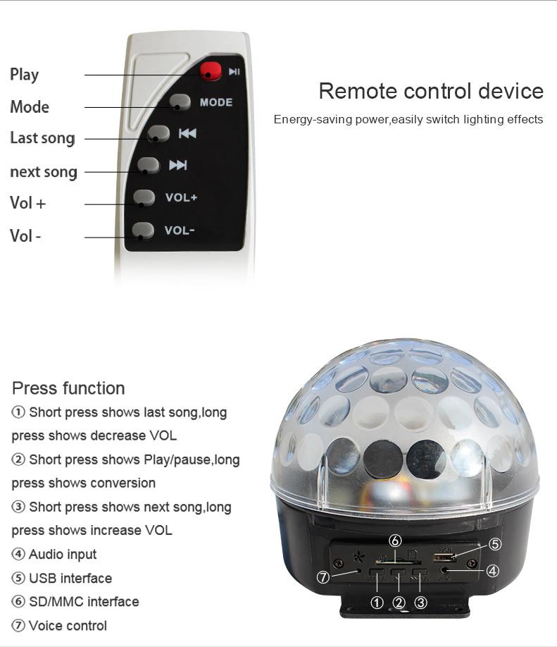 Professional LED Magic Crystal Disco Karaoke Effect Light