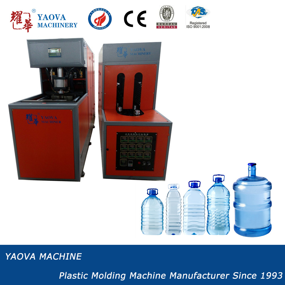 Semi-Automatic 10L/20L Mineral Water Bottle Stretch Blow Moulding Machine
