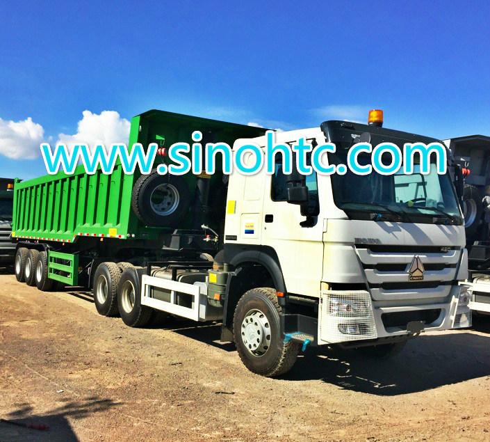 3 axle dump trailer/ Tipping trailer/ dump tipper trailer/ dumper tipper trailer