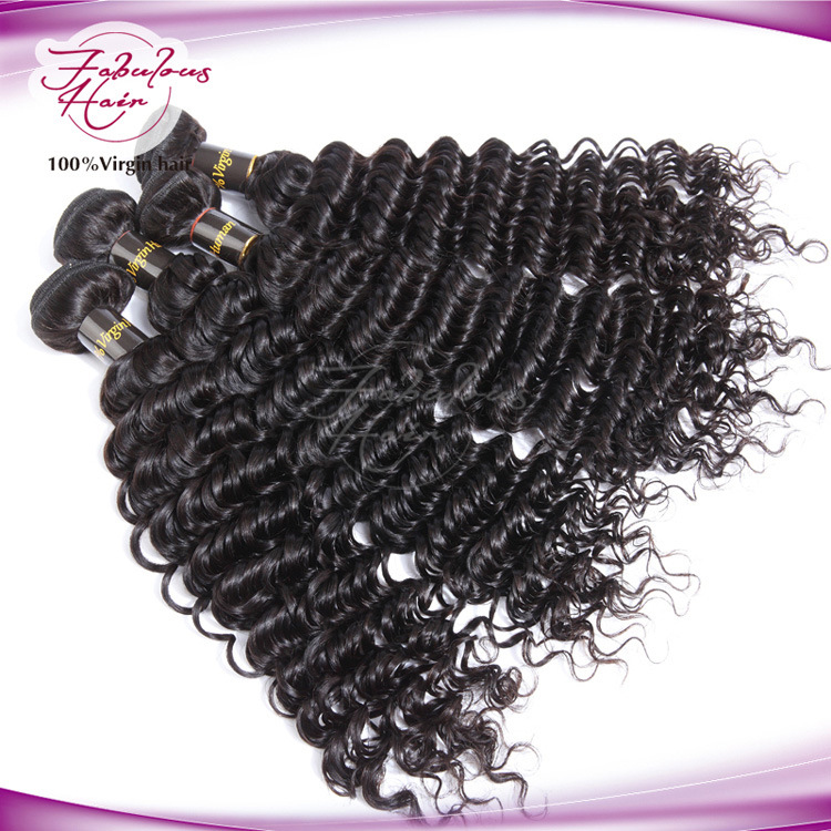 Hot Sale Indian Hair Natural Deep Wave Hair Weave