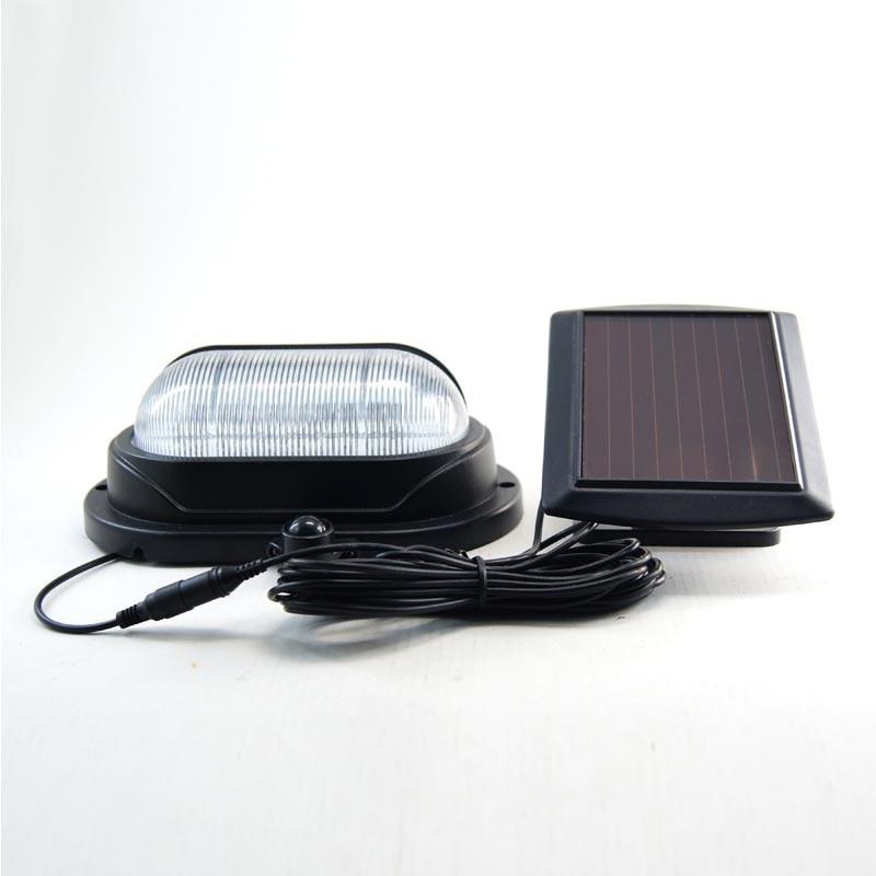 Patent LED Solar Door Light Outdoor IP44 Waterproof Black PIR Motion Sensor Light Easy Install wireless Wall Lamp
