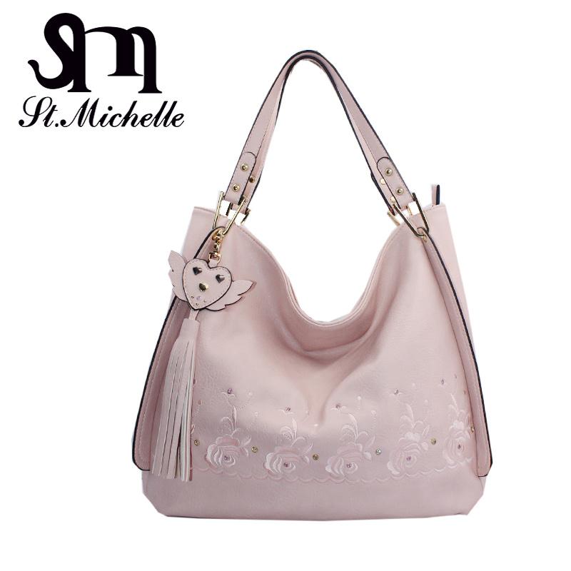 Tow Color PU Handbag for Woman