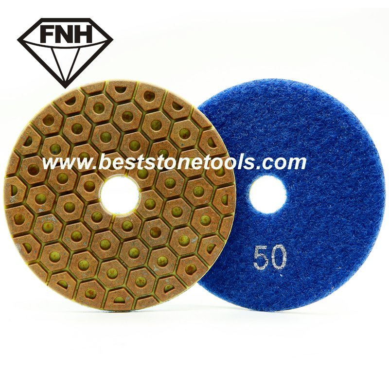 Wd-14 Hexagonal Resin Metal Diamond Pad