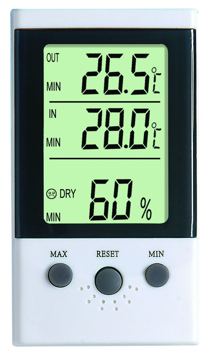 Indoor and Outdoor Room LCD Display Digital Thermometer Hygrometer Dt-3