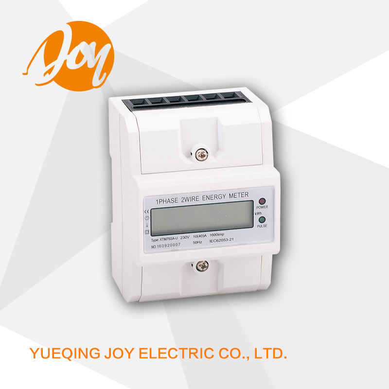 DIN-Rail Single Phase Register Counter Electronic Energy Meter